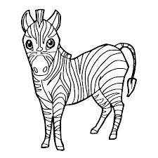 zebra coloring page zebra coloring book a cartoon cute zebra coloring page vector cute coloring zebra