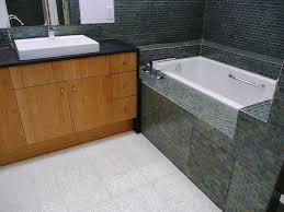 silver spring blend mini glass subway tile bathtub surround