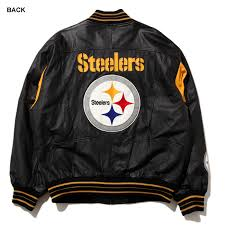 pittsburgh steelers leather jacket mail order men s big size outer winter clothing leatherette jacket pittsburgh steelers