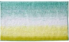 mdesign microfiber ombre bathroom shower accent rug mint green