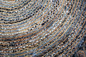 denim jute rug circle denim jute rug geometric floor decor white natural rug hand weaved rug denim jute rug
