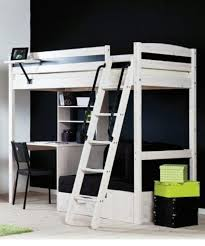 interesting white loft bed ikea and stair
