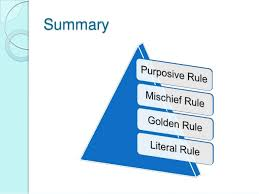 Image result for Critical Analysis Of The Literal, Golden And Mischief Rule