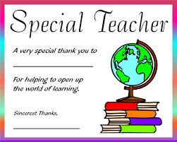 Free Printable Teacher Appreciation Certificates Certificates For
