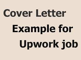 exle of cover letter for upwork job