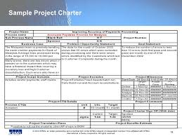 project charter sample sample project charter template business