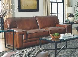 Simon Li Living Room Chestnut Leather Sofa Furniture Fair