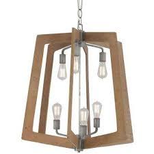 lofty 6 light wheat and steel foyer chandelier