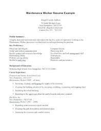 Sample Resume Production Worker Letter Resume Directory