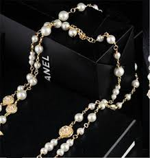 whole pearl chain necklace fashion diamond necklaces famous design pearl letter necklaces fine chains jewelry with box lover gift name pendant necklace