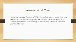 Formato Apa Word