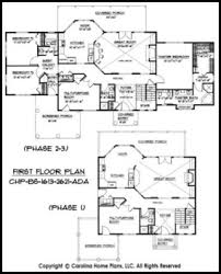 Build in Stages Story House Plan BS     AD Sq Ft   Story    BS    First Floor Plan