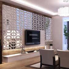 luxury wall accent pieces of modern design diy acrylic mirror wall art home decor 3d wall sticker