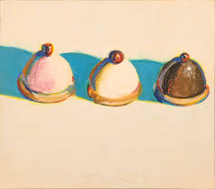 three treats is among four wayne thiebaud paintings given by the artist to the