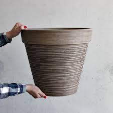 Gartenkübel Pflanzkübel Blumentopf Holzoptik Blumenkübel Pflanztopf