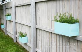 decor planter box on fence our fence isnt wood like this one but i m ideas