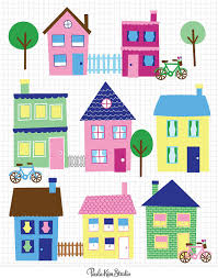 family room clipart. 50% off sale - house clip art neighborhood clipart town downloadable images family room