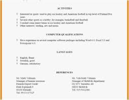 Resume Reference List Format Examples Business Plan Template For
