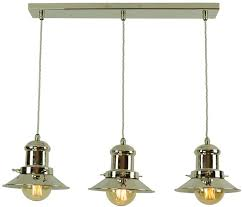 solid brass vintage ceiling pendant light in polished nickel