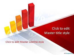 Free Bar Chart Powerpoint Template Free 3d Bar Chart Ppt Template For Final Financial Quarter