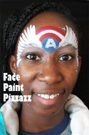 this girl version of a captain america design was inspired by the original version by the face painting
