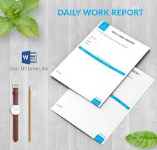 report template for word daily report template 62 free word excel pdf documents