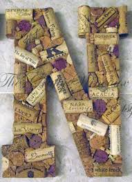 Extra Large Custom Handmade Artistic Wine Cork Letters for Wreath, Wall, or  General Decor
