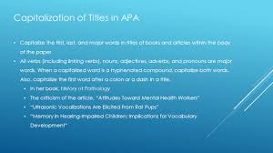 Capitalization Of Titles In Apa Mla And Turabian Ppt Video