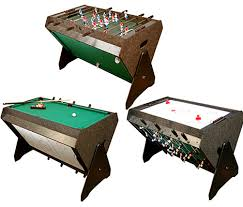 This 3-IN-1 Game Table to save your room space, and for you are always boring in one game. Table-Foosball Air Hockey Pool