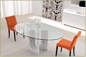 oval glass dining table. Oval Glass Dining Table L