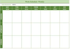 Work Schedule Charts Free Printable Work Schedules Weekly Employee Work Schedule