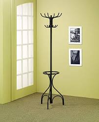 Black Metal Walnut Wood Hall Tree Coat Hat Rack Cool Amazon Coaster Traditional Black Coat Rack With Umbrella Holder