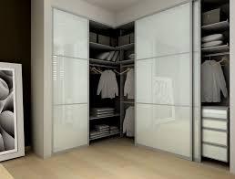 modern closet with frosted glass sliding closet doors bamboo flooring modu home sliding doors