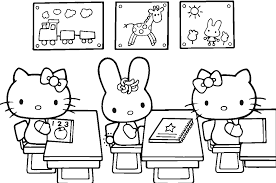 Small Picture Hello Kitty At School Free Coloring Page Hello Kitty Kids
