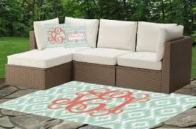 monogram indoor outdoor rug cushions
