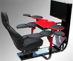 chair ergonomic gaming computer workstation design with all those little tables perfect for