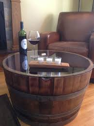 Image Ideas Reclaimed Half Wine Barrel Table With Tempered Glass Top We Used Some Barrels To Plant As Well They Are Very Useful And Quite Large Pinterest Reversible Reclaimed Half Wine Barrel Table With Tempered Glass Top