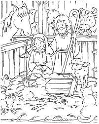 Disegno Di Natale Religioso Da Stampare Gesù Nella Stalla Da Colorare