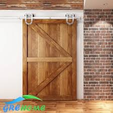 4 9ft 6ft 6 6ft stainless steel interior sliding barn wood entry sliding door ings in doors from home improvement on aliexpress alibaba group