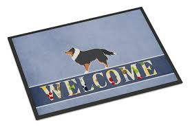 Caroline's Treasures BB5534JMAT Sheltie/shetland Sheepdog Welcome ...