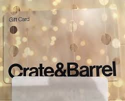 new unused crate and barrel gift card