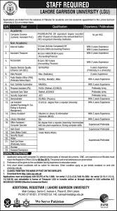 lahore garrison university jobs army university jobs in lahore garrison university jobs army university jobs in lahore