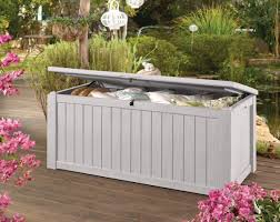 minimalist outdoor storage containers with grey keter garden outdoor deck storage box and lockable for
