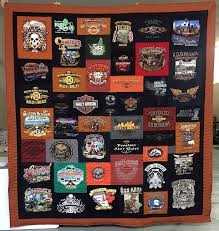 13 best Harley Davidson T-shirt Quilts images on Pinterest | Black ... & Harley Davidson T-shirt Quilt Adamdwight.com