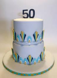 Art Deco Cake For A 50th Birthday Party Raquel Cake Designer