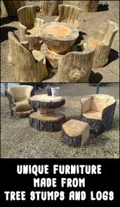furniture made from tree stumps. Aside From Their Beauty, What Makes These Pieces Of Furniture Astonishing Is That It Takes Made Tree Stumps