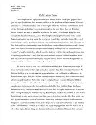 essay about child labour essay on child labour 1321 words bartleby