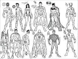 Justice League Coloring Pages Justice League Coloring Pages Justice