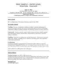 cover letter resume objective for teaching position resume .