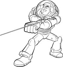 Small Picture Buzz Lightyear and His Awesome Laser in Toy Story Coloring Page